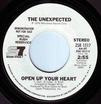 UNEXPECTED - OPEN UP YOUR HEART - SS7 DEMO