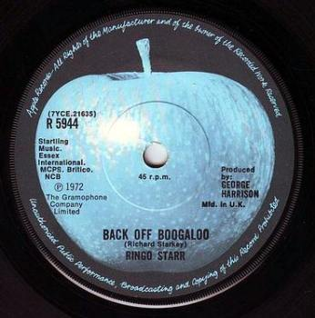 RINGO STARR - BACK OFF BOOGALOO - APPLE