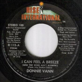 DONNIE VANN - I CAN FEEL A BREEZE - RISE INTER