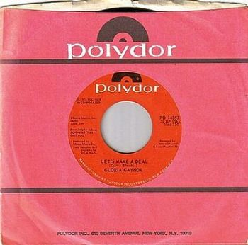 GLORIA GAYNOR - LET'S MAKE A DEAL - POLYDOR