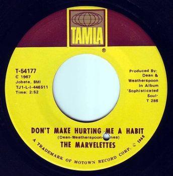 MARVELETTES - DON'T MAKE HURTING ME A HABIT - TAMLA
