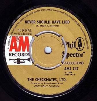 CHECKMATES LTD - NEVER SHOULD HAVE LIED - A&M