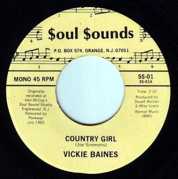 VICKIE BAINES - COUNTRY GIRL - SOUL SOUNDS