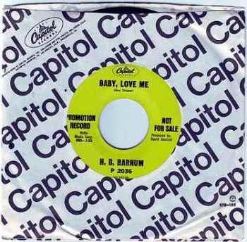 H.B. BARNUM - BABY, LOVE ME - CAPITOL DEMO