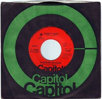 WARREN WILSON - DON'T QUIT - CAPITOL DEMO