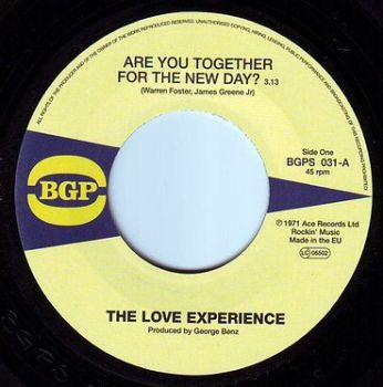 LOVE EXPERIENCE - ARE YOU TOGETHER FOR THE NEW DAY - BGP