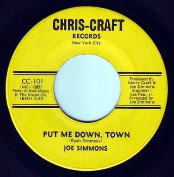 JOE SIMMONS - PUT ME DOWN, TOWN - CHRIS-CRAFT
