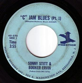 """SONNY STITT & BOOKER ERVIN - """"C"""" JAM BLUES - PRESTIGE"""