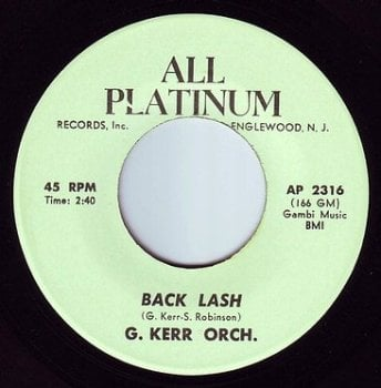 GEORGE KERR ORCH - BACK LASH - ALL PLATINUM