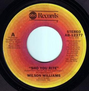 WILSON WILLIAMS - SHO YOU RITE - ABC