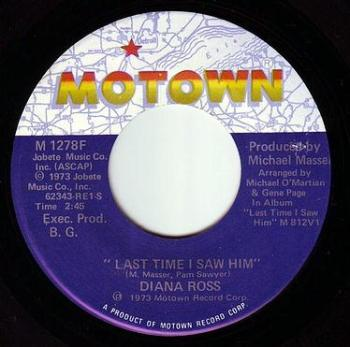 DIANA ROSS - LAST TIME I SAW HIM - MOTOWN