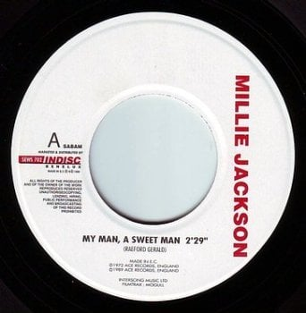 MILLIE JACKSON - MY MAN, A SWEET MAN - INDISC