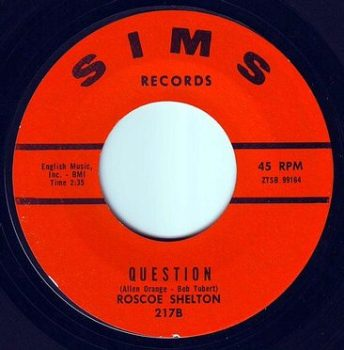 ROSCOE SHELTON - QUESTION - SIMS