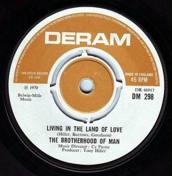 BROTHERHOOD OF MAN - LIVING IN THE LAND OF LOVE - DERAM