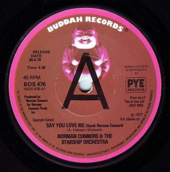 NORMAN CONNORS - SAY YOU LOVE ME - BUDDAH DEMO