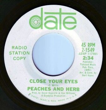 PEACHES & HERB - CLOSE YOUR EYES - DATE DEMO