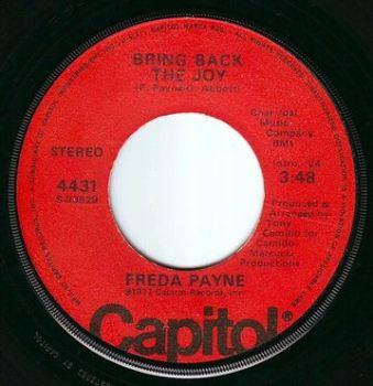FREDA PAYNE - BRING BACK THE JOY - CAPITOL