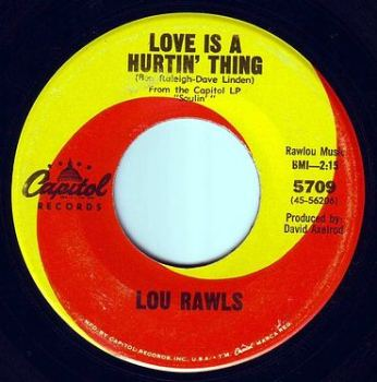 LOU RAWLS - LOVE IS A HURTIN' THING - CAPITOL