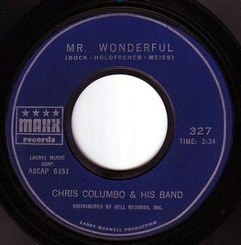 CHRIS COLUMBO & HIS BAND - MR. WONDERFUL - MAXX
