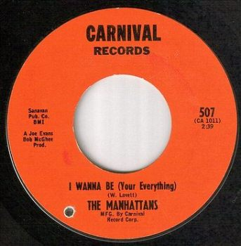 MANHATTANS - I WANNA BE - CARNIVAL