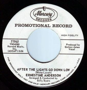 ERNESTINE ANDERSON - AFTER THE LIGHTS GO DOWN LOW - MERCURY DEMO