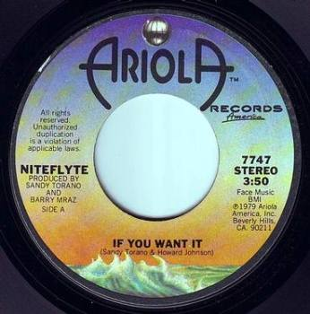 NITEFLYTE - IF YOU WANT IT - ARIOLA