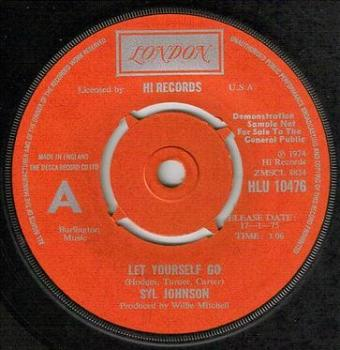 SYL JOHNSON - LET YOURSELF GO - LONDON dj