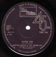 MARTHA REEVES & THE VANDELLAS - BLESS YOU - TMG 794