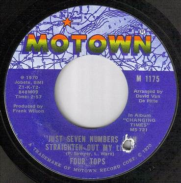 FOUR TOPS - JUST SEVEN NUMBERS - MOTOWN