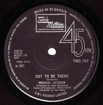 MICHAEL JACKSON - GOT TO BE THERE - TMG 797