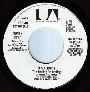 VIVIAN REED - IT'S ALRIGHT - UA DEMO
