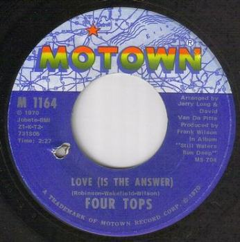 FOUR TOPS - LOVE IS THE ANSWER - MOTOWN