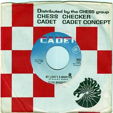 CLEA BRADFORD - MY LOVE'S A MONSTER - CADET