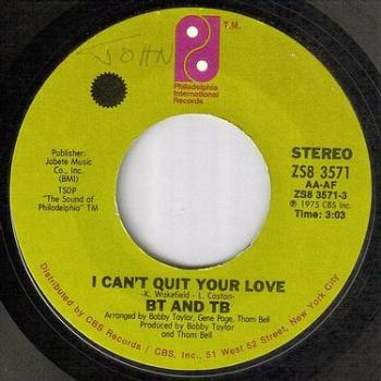 BT AND TB - I CAN'T QUIT YOUR LOVE - PIR