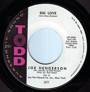 JOE HENDERSON - BIG LOVE - TODD