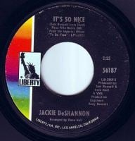JACKIE DeSHANNON - IT'S SO NICE - LIBERTY