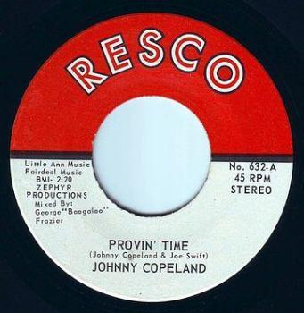 JOHNNY COPELAND - PROVIN' TIME - RESCO