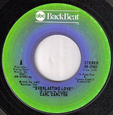 CARL CARLTON - EVERLASTING LOVE - BACKBEAT