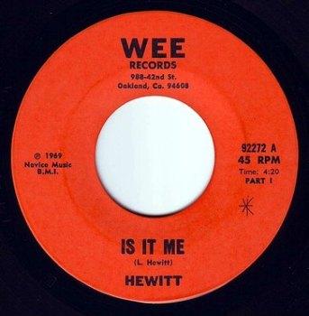 HEWITT - IS IT ME - WEE