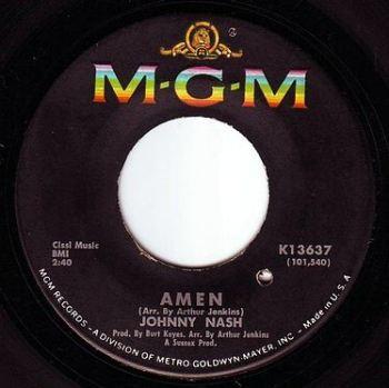 JOHNNY NASH - AMEN - MGM