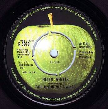 PAUL McCARTNEY & WINGS - HELEN WHEELS - APPLE
