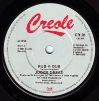 JUDGE DREAD - RUB-A-DUB - CREOLE