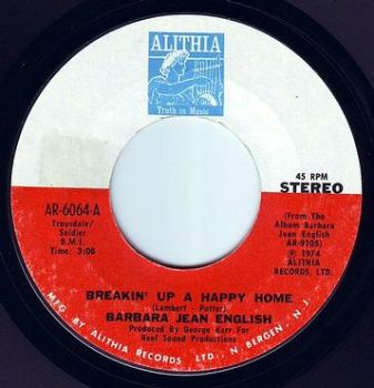 BARBARA JEAN ENGLISH - BREAKIN' UP A HAPPY HOME - ALITHIA