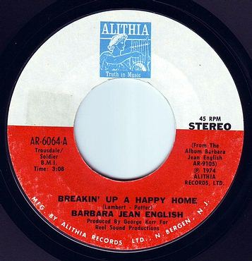 BARBARA JEAN ENGLISH - BREAKIN' UP A HAPPY HOME - ALITHIA