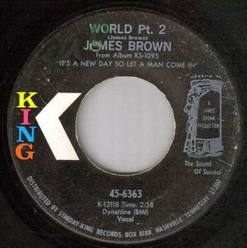 JAMES BROWN - WORLD Pt 2 - KING
