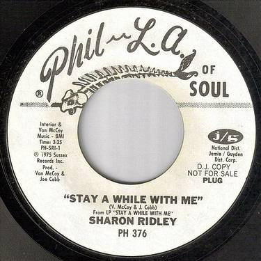 SHARON RIDLEY - STAY A WHILE WITH ME - PHIL LA OF SOUL dj