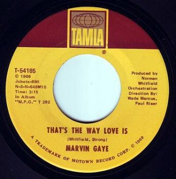 MARVIN GAYE - THAT'S THE WAY LOVE IS - TAMLA