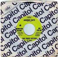 PARIS SISTERS - GREENER DAYS - CAPITOL DEMO