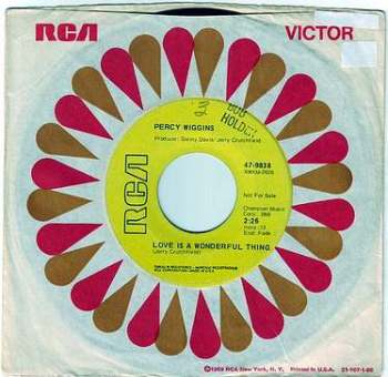 PERCY WIGGINS - LOVE IS A WONDERFUL THING - RCA DEMO