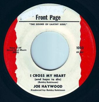 JOE HAYWOOD - I CROSS MY HEART - FRONT PAGE